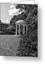 The Old Well At Chapel Hill In Black And White Greeting Card
