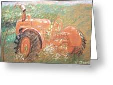 The Ol'e Allis Chalmers Greeting Card by Ron Bowles