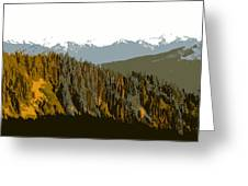 The Olympic Mountains Greeting Card