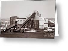 The Olyphant Pennsylvania Coal Breaker 1971 Greeting Card
