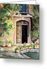 The Open Door Greeting Card by Sam Sidders