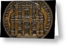The Opening For Worship Of The Chiesa Del Gesu, Rome [reverse] Greeting Card