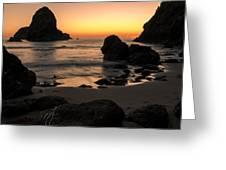 The Orange Glow At Whaleshead Greeting Card