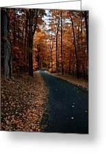 The Orange Road Greeting Card