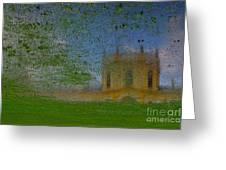 Fairytale Castle On A Meadow. Greeting Card