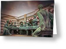 The Other Last Supper In Milan Italy Greeting Card