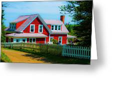 The Other Red House Monhegan Greeting Card