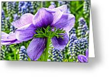 The Other Side Of Anemone   Greeting Card