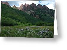 The Other Side Of Maroon Bells 1 Greeting Card