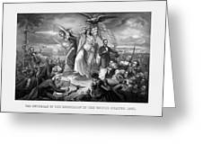 The Outbreak Of The Rebellion In The United States Greeting Card