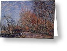 The Outskirts Of The Fontainebleau Forest Greeting Card