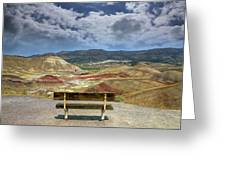 The Overlook At Painted Hills In Oregon Greeting Card