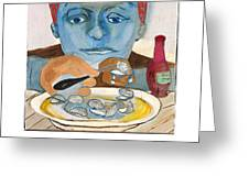 The Oyster Eater Greeting Card