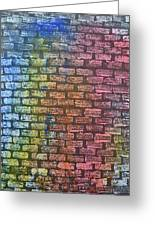 The Painted Brick Wall  Greeting Card