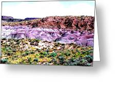 The Painted Desert  In Arizona Greeting Card