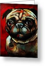 The Painted Pug Greeting Card