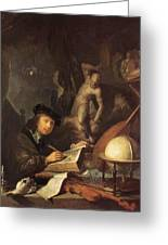 The Painter In His Workshop 1647 Greeting Card