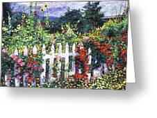 The Painter's Palette Garden Greeting Card
