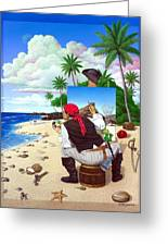 The Painting Pirate Greeting Card