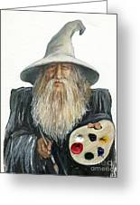 The Painting Wizard Greeting Card