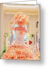 The Palazzo Casino Venetian Rose Dress Greeting Card