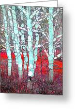 The Pale Trees Of Winter Greeting Card
