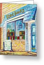 The Paperbacks Plus Book Store St Paul Minnesota Greeting Card