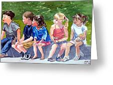The Parade Watchers Greeting Card