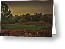 The Park At Dark Greeting Card