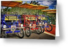 The Park Bikes Greeting Card