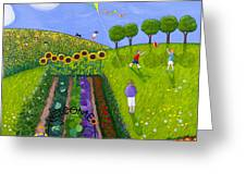 The Park Number 1 Of 3 Greeting Card by Barbara Esposito