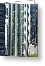 The Parkshore Condominiums Building Chicago Aerial Greeting Card