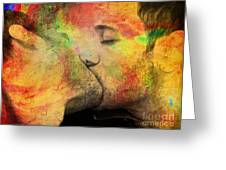 The Passion Of A Kiss 1 Greeting Card