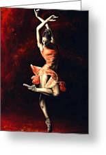 The Passion Of Dance Greeting Card by Richard Young