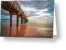 The Pastel Sky And The Jetty Greeting Card