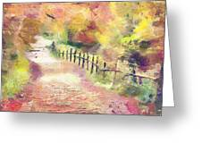 The Path In Autumn Greeting Card