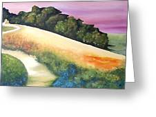 The Path Over The Hill Greeting Card by Carola Ann-Margret Forsberg