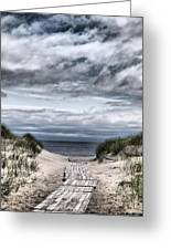 The Path To The Beach Greeting Card