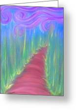 The Path To The Garden Of Happiness Painting Poem Greeting Card