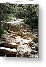The Path To The Mountain Top Greeting Card