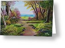 The Pathway To Heaven Greeting Card