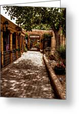 The Patio Market Greeting Card by David Patterson