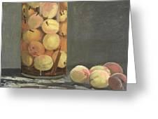 The Peach Glass Greeting Card