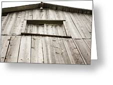 The Peak Of The Amana Farmer's Market Barn Greeting Card