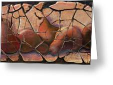 The Pears Fresco With A Crackle Finish Greeting Card