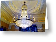 The Peninsula Chandelier Greeting Card