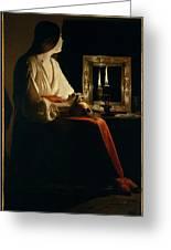 The Penitent Magdalen, Georges De La Tour Greeting Card