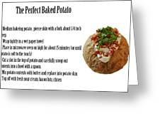 The Perfect Baked Potato Greeting Card