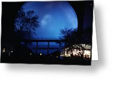 The Perisphere At Night Greeting Card