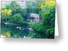 The Philadelphia Canoe Club At The Mouth Of The Wissahickon Greeting Card